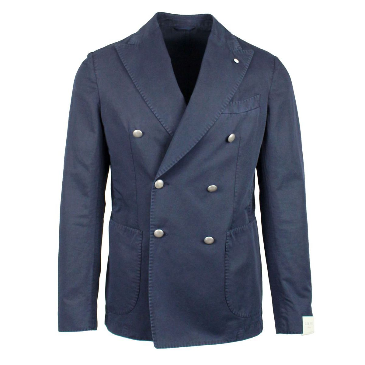 Double-breasted slim jacket Navy L.B.M. 1911