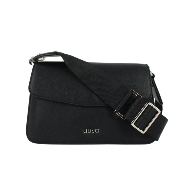Shoulder bag with logo Black LIU JO