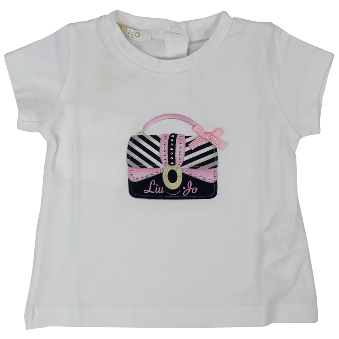 T-shirt with bag print White LIU JO
