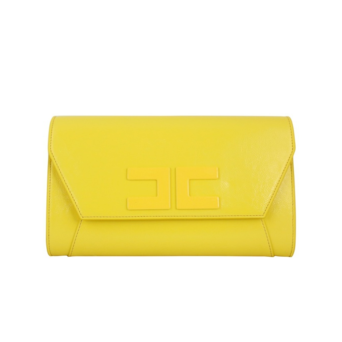 Envelope bag with chain Yellow Elisabetta Franchi