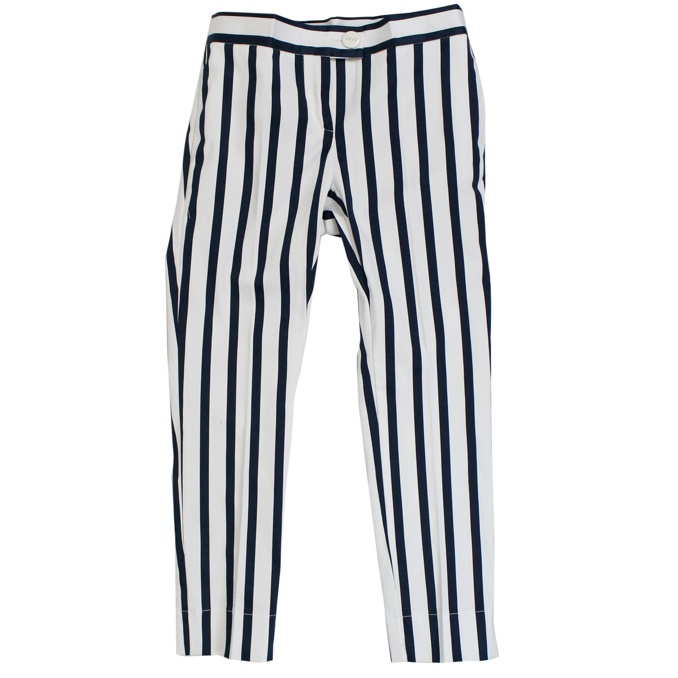 89a103ca22ee Striped stretch trousers White / blue, Liu Jo d19029t2229 ...