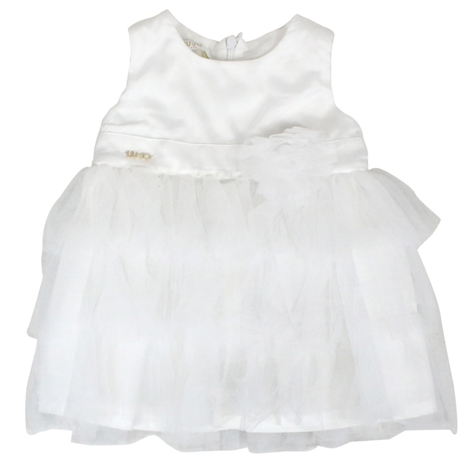 Sleeveless dress with tulle White LIU JO
