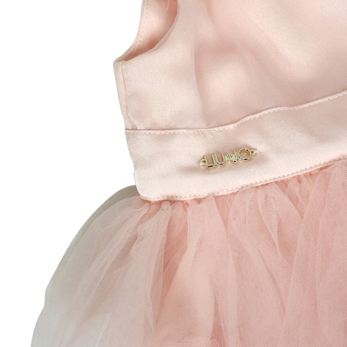 Sleeveless dress with tulle Rose Liu Jo