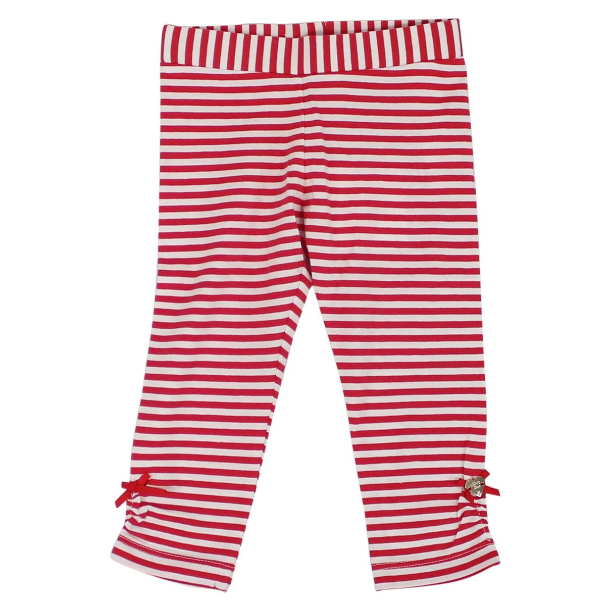 Leggings with striped pattern and bows White / pink LIU JO