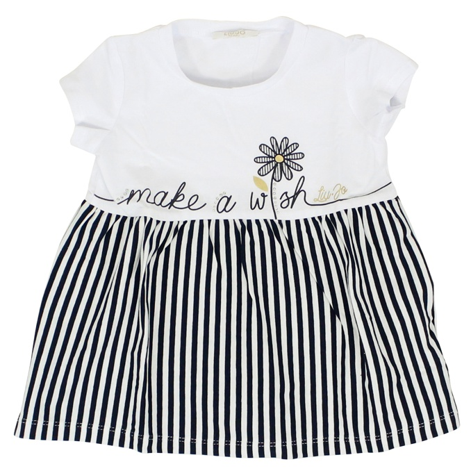 Complete in striped cotton jersey with print White LIU JO