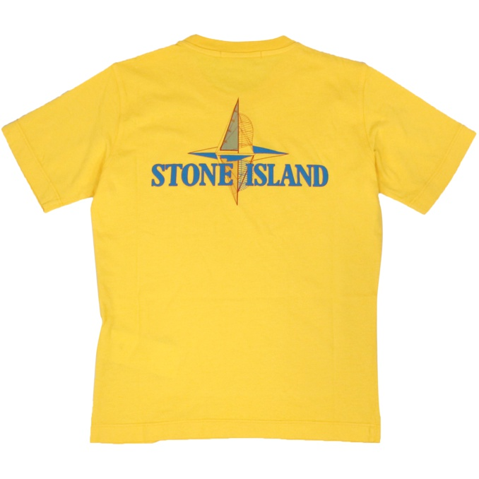Front and back print T-shirt Yellow Stone Island