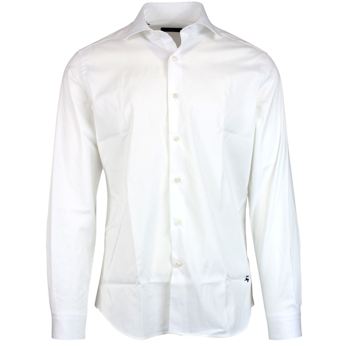 Small French collar shirt White Fay