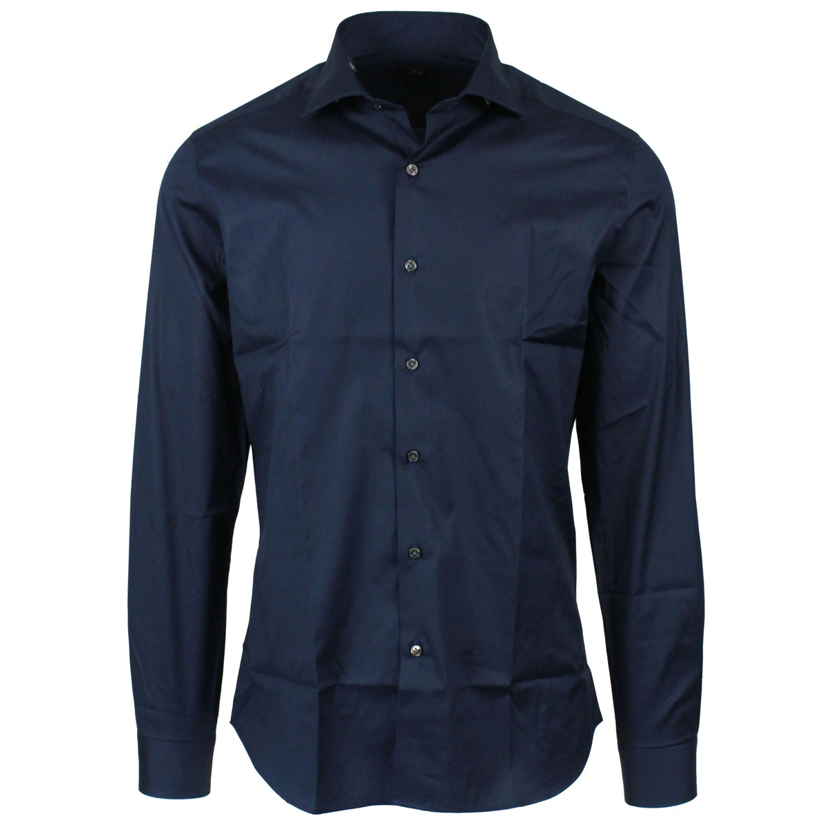 Small French collar shirt Navy Fay
