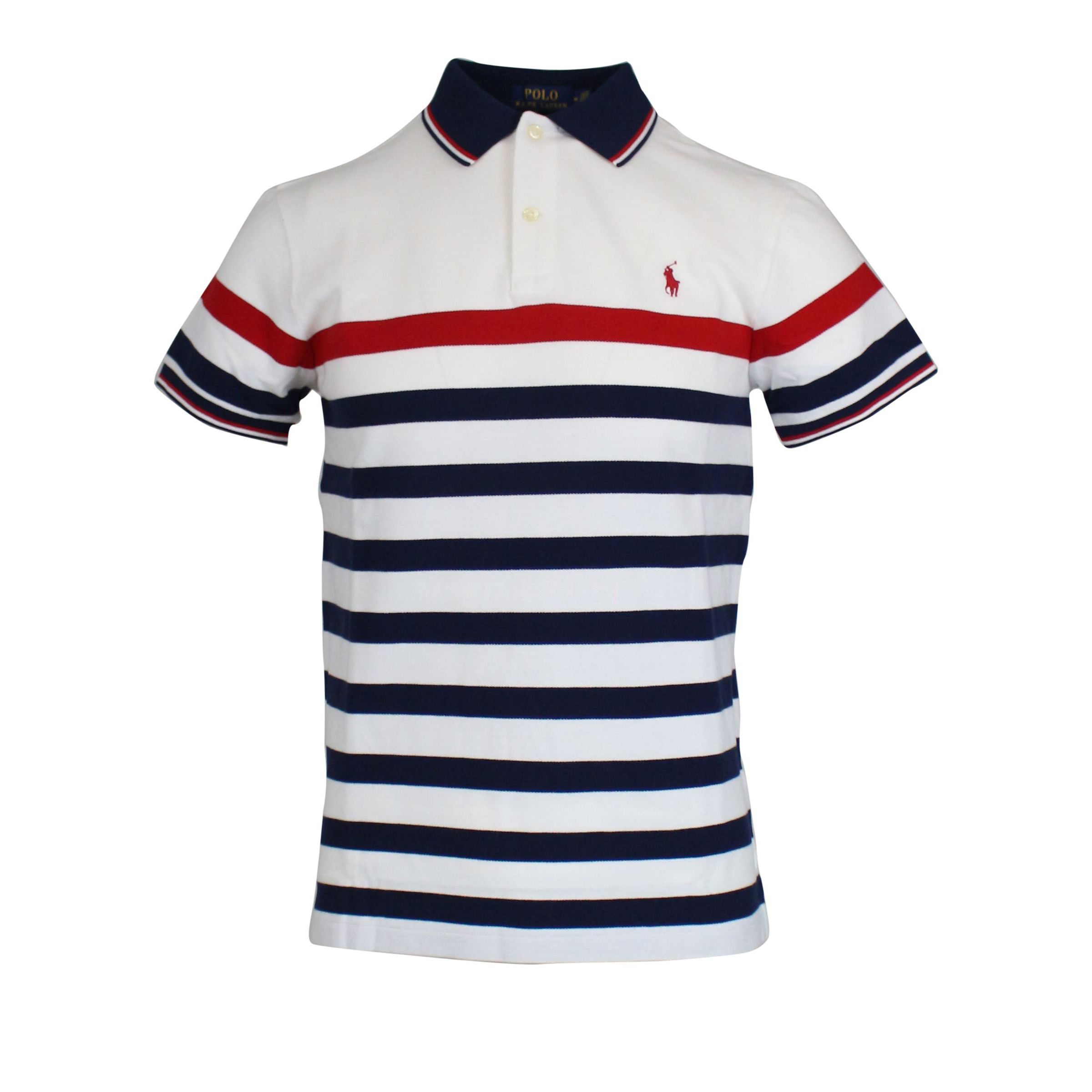info for 03eab aef58 Cotton polo shirt with striped pattern