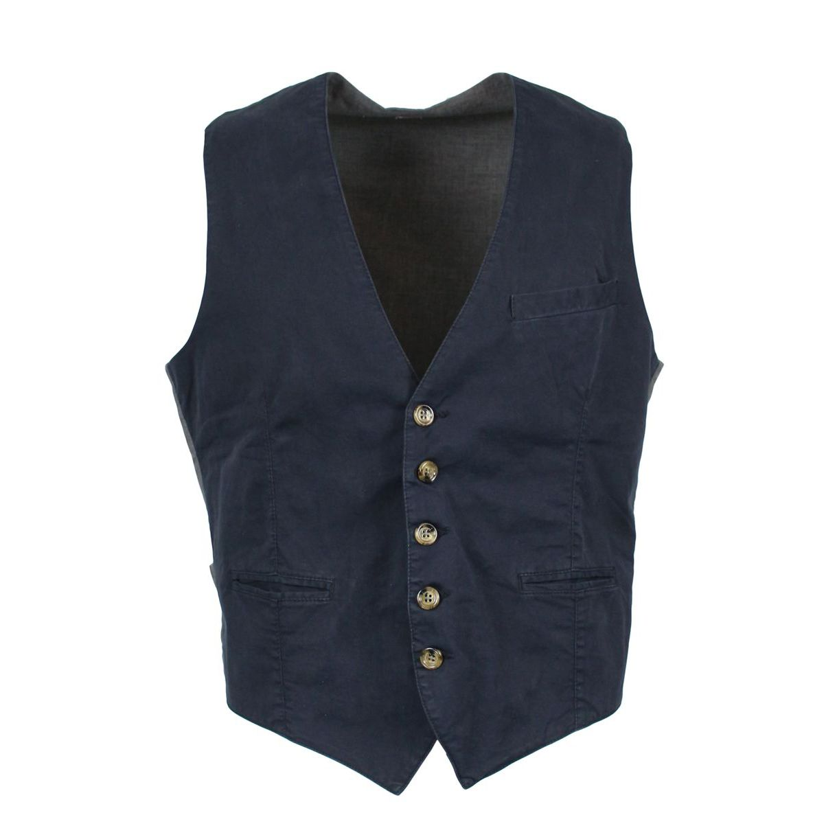 Waistcoat with buttons and V-neck Night Eleventy