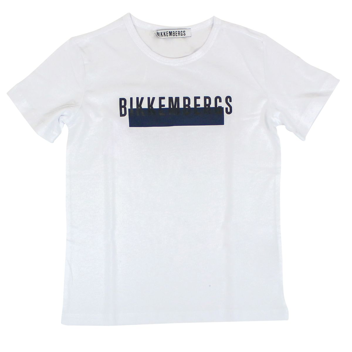 T-shirt with front logo print White Bikkembergs