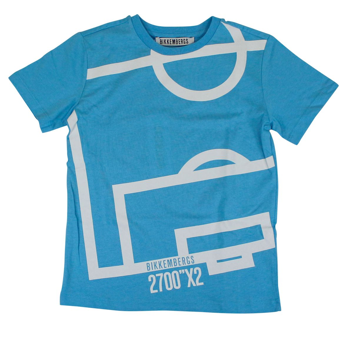 Cotton T-shirt with print Light blue Bikkembergs