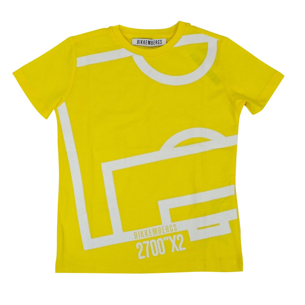 Cotton T-shirt with print Yellow Bikkembergs