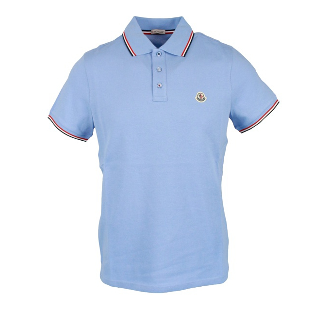 3 button cotton polo shirt with contrasting trim Heavenly Moncler
