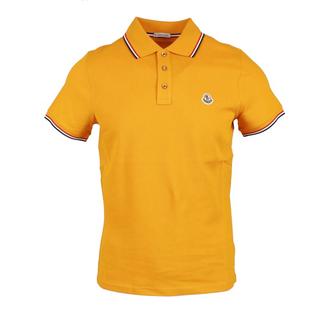 3 button cotton polo shirt with contrasting trim Sunflower Moncler