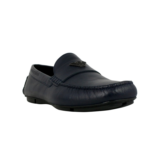 Classic moccasin in leather Night EMPORIO ARMANI