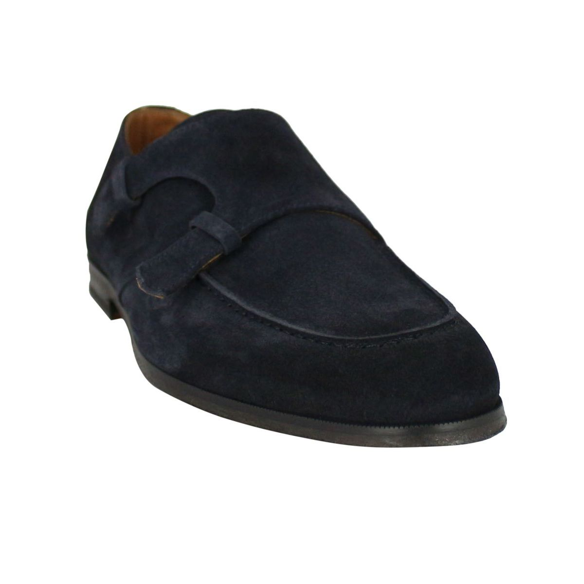 Double buckle suede moccasin Blue Doucal's