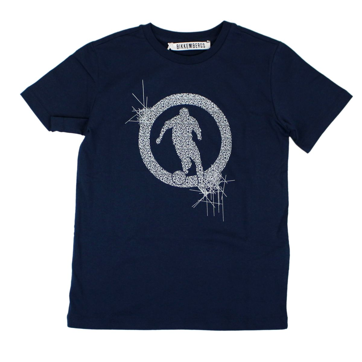 T-shirt with print Blue Bikkembergs