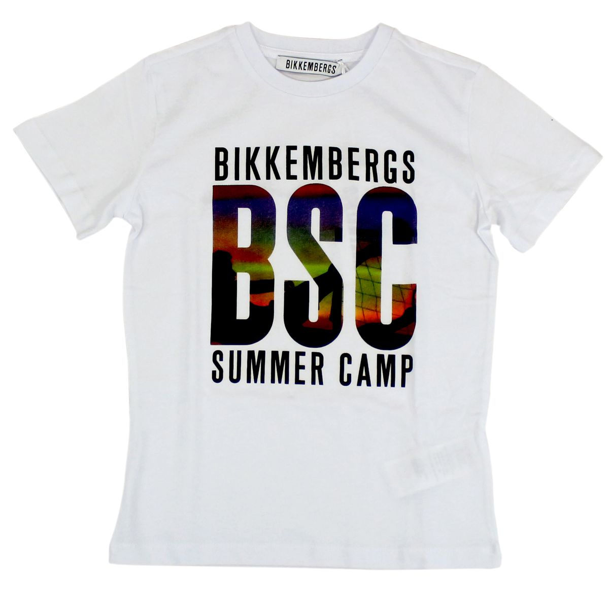 T-shirt with BSC print White Bikkembergs