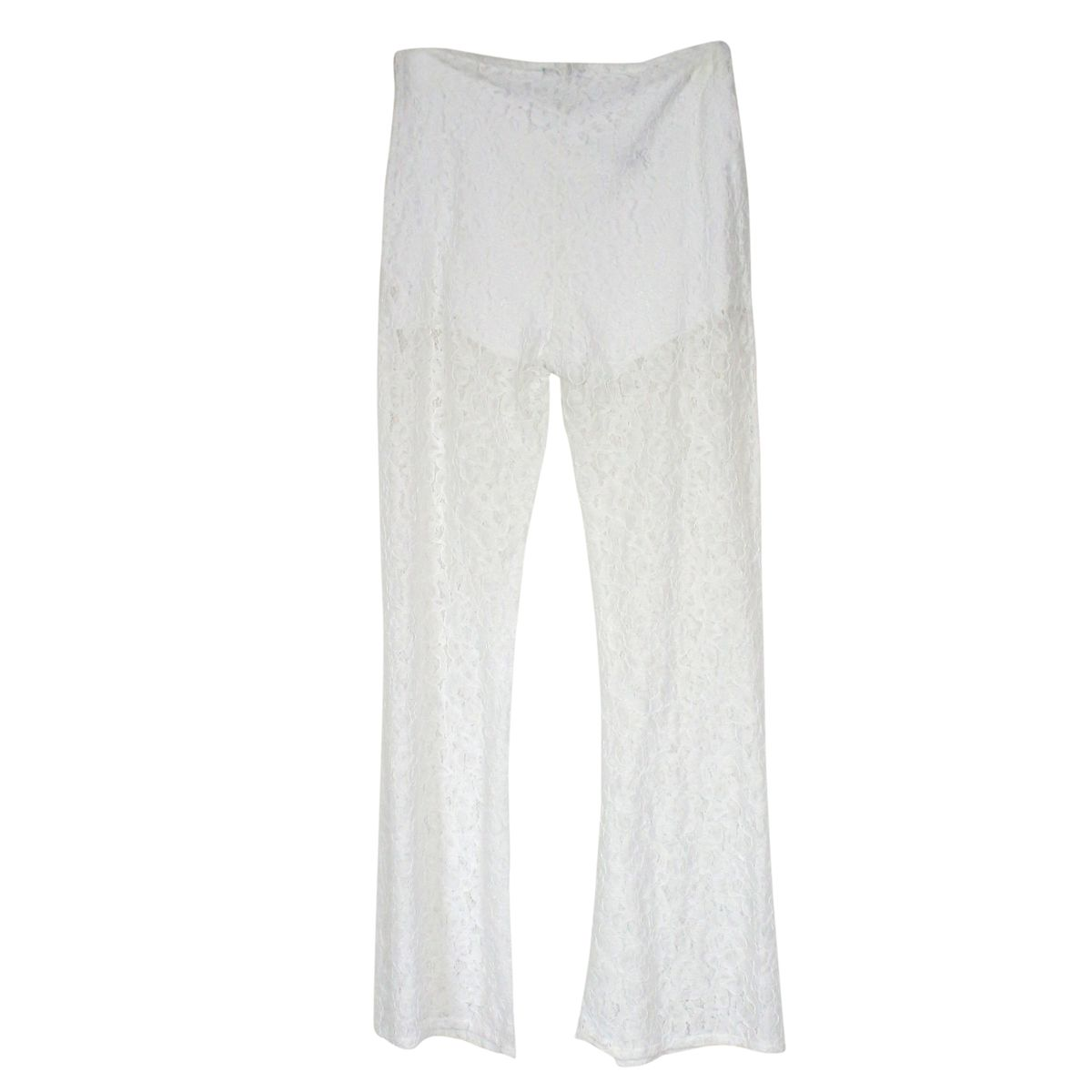 Wide lace trousers White Patrizia Pepe