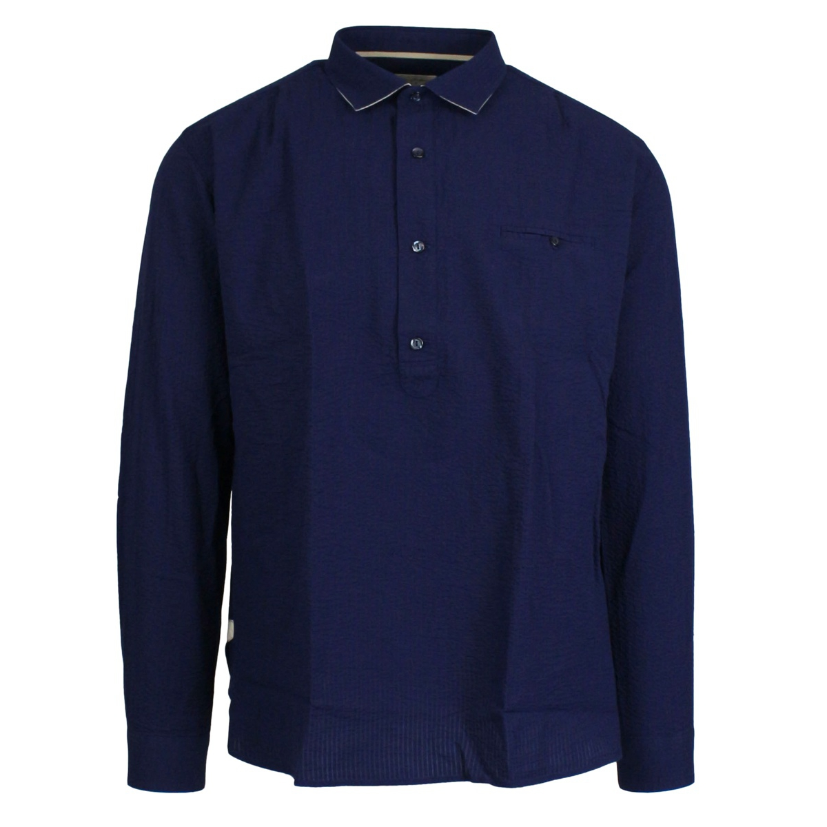 Shirt with French collar and breast pocket Ink TINTORIA MATTEI