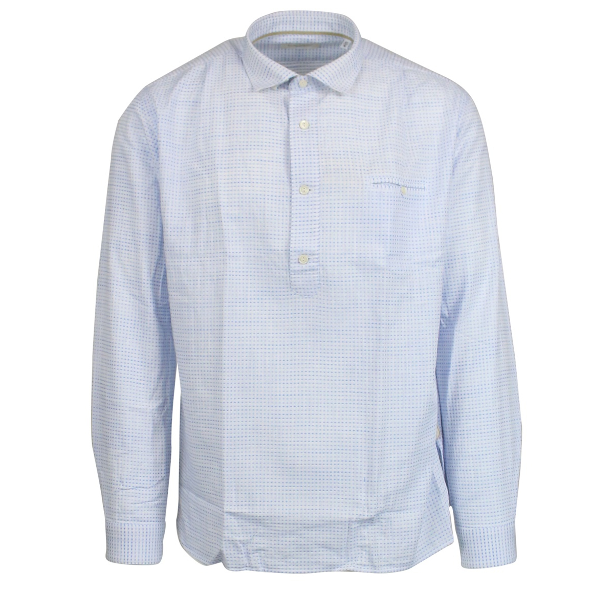 Micro-patterned shirt with French collar White TINTORIA MATTEI