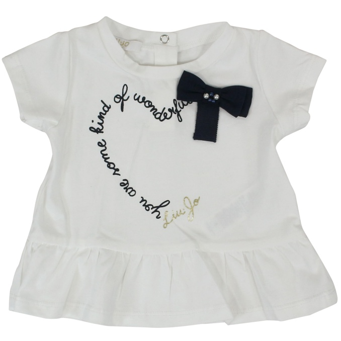Complete with bow print and volants White / blue LIU JO