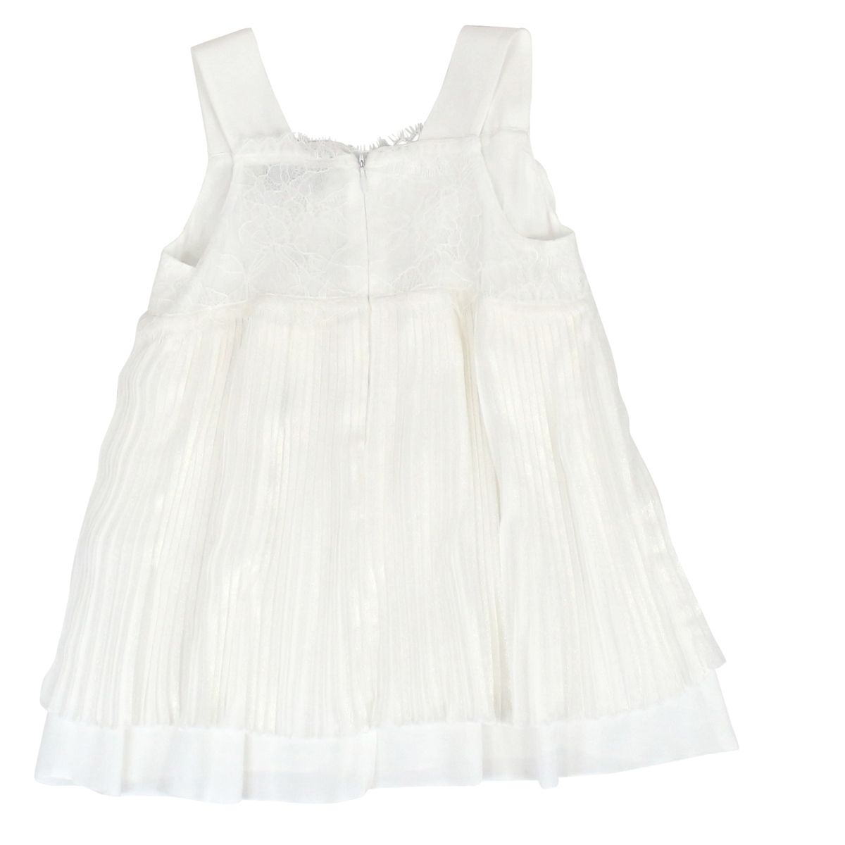 Viscose top with pleats and lace White Twin-Set