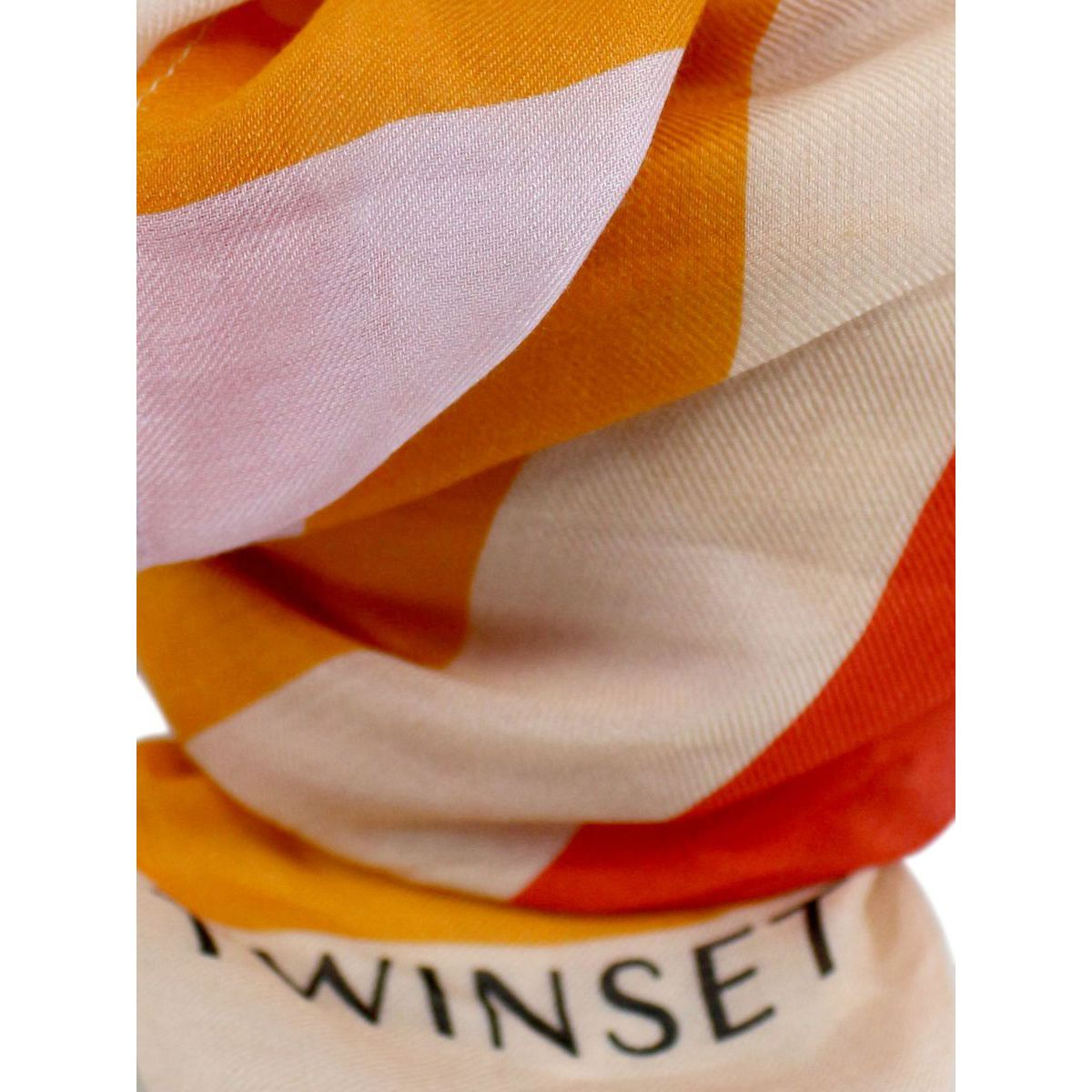 Foulard in misto modal e viscosa a fantasia Corallo Twin-Set