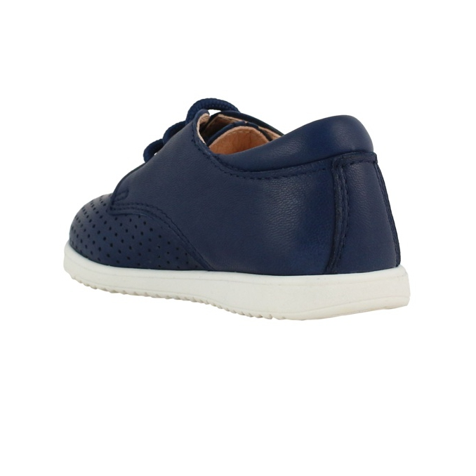 Lace-up Derby in leather Blue Clarys