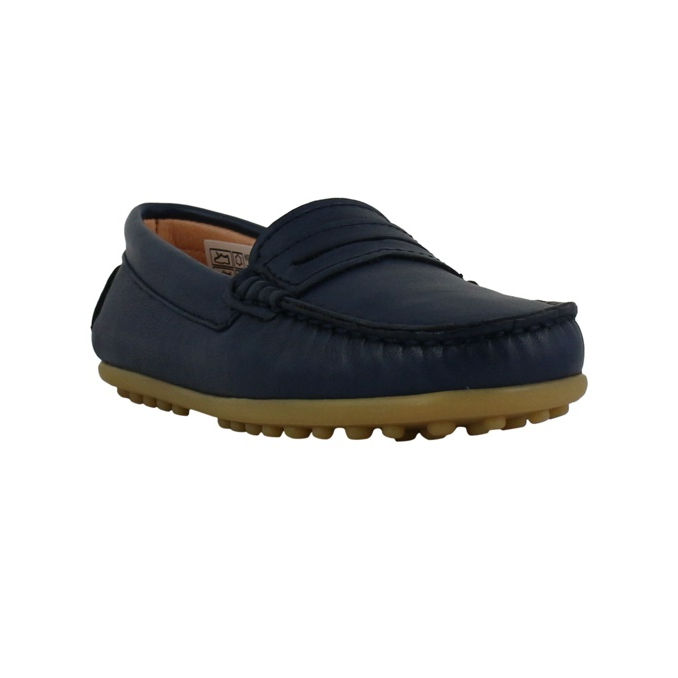 Leather moccasin Blue Clarys