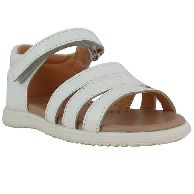 Sandal in leather White Clarys