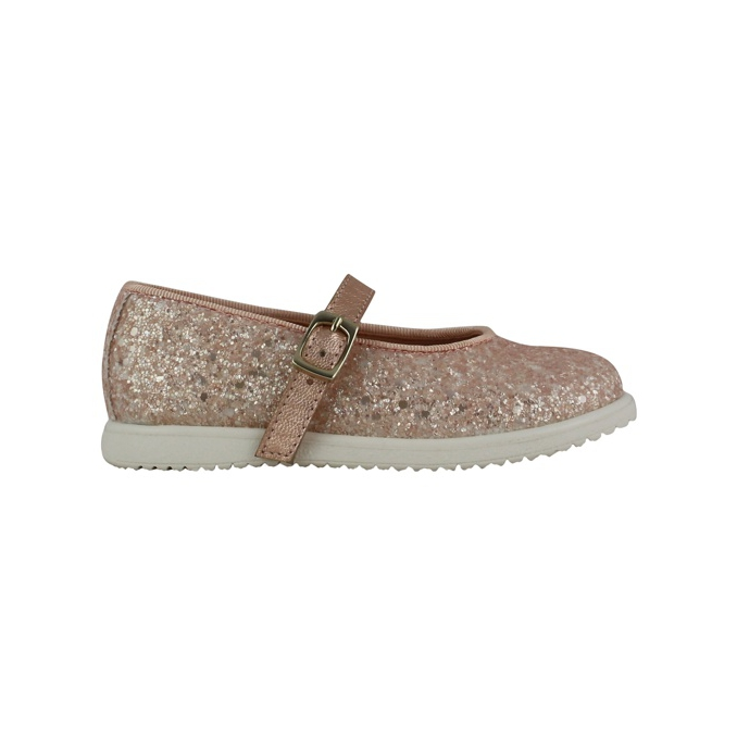 Ballerina all glitter with buckle Rose Clarys