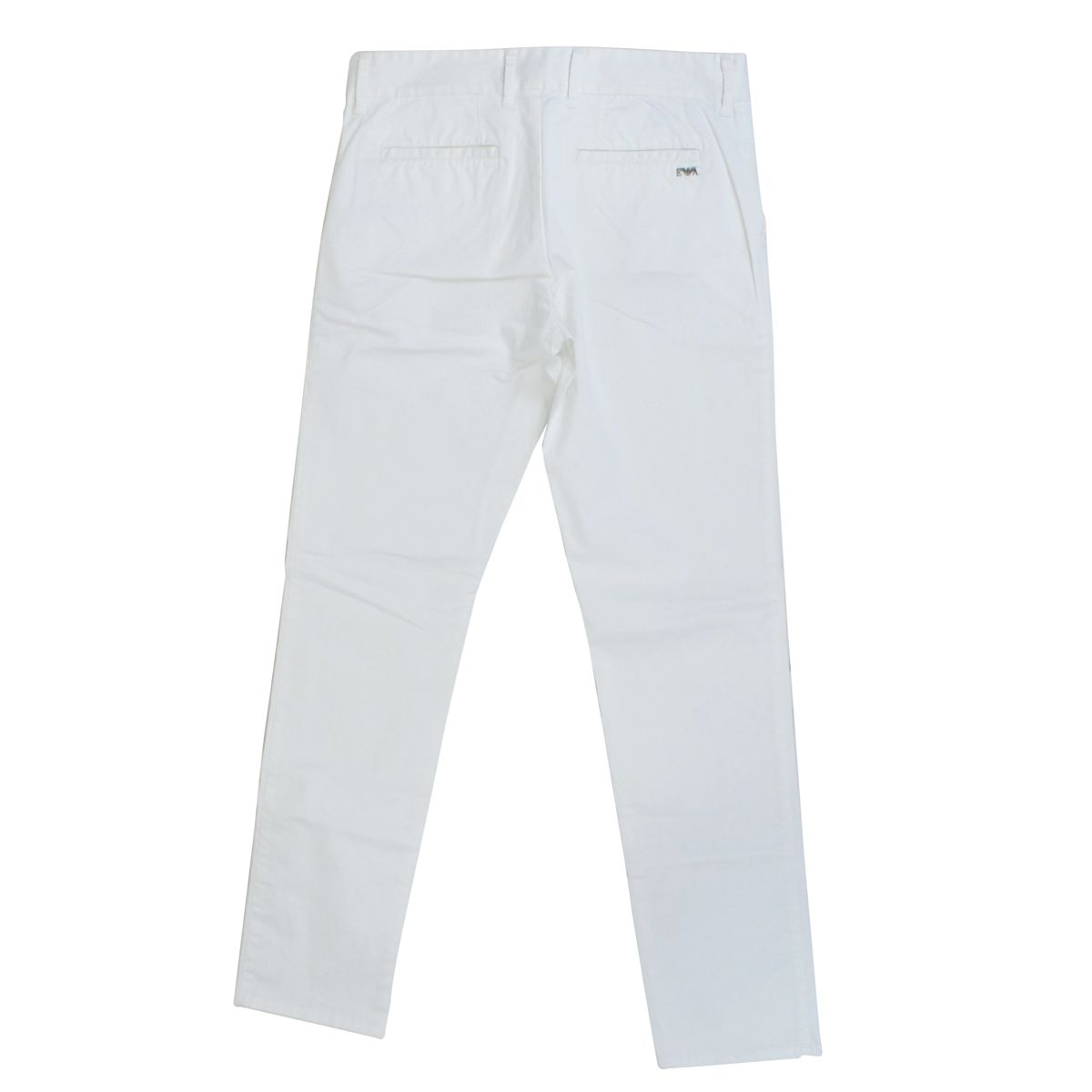Stretch trousers with america pockets White Emporio Armani