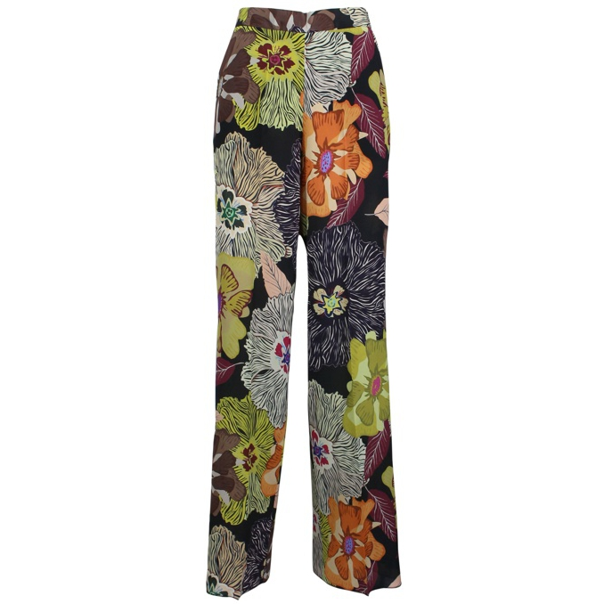 Palazzo trousers with floral print Fantasy Etro