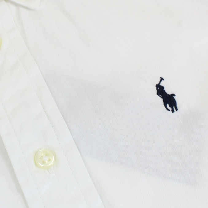 camicia botton down con logo Bianco Polo Ralph Lauren