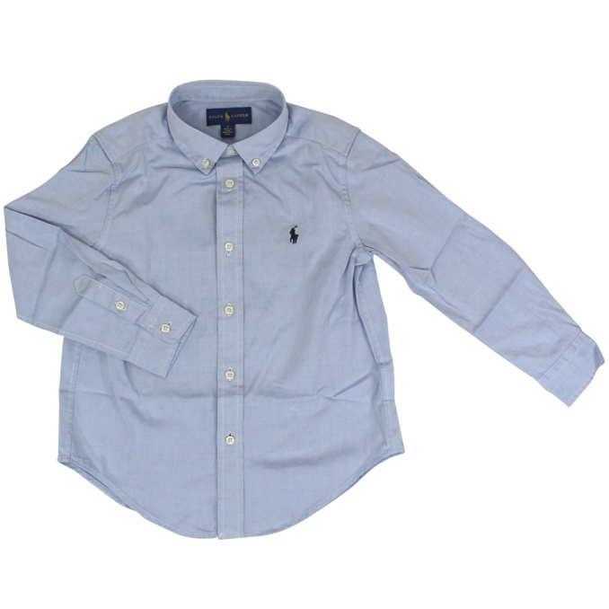 camicia botton down con logo Celeste Polo Ralph Lauren