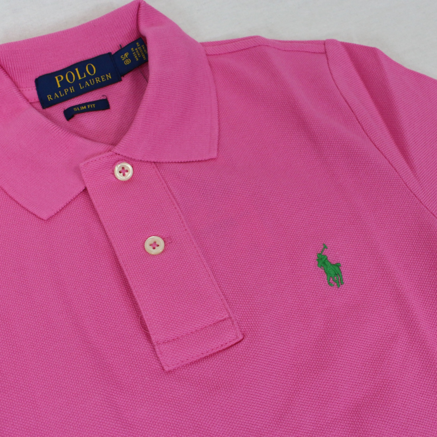 5bbb7cca7 Custom-fit polo shirt with logo Rose, Polo Ralph Lauren 323708857 ...