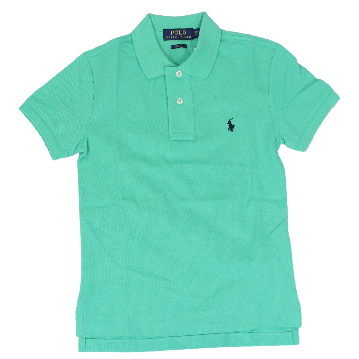 Polo Verde Bambino.Custom Fit Polo Shirt With Logo