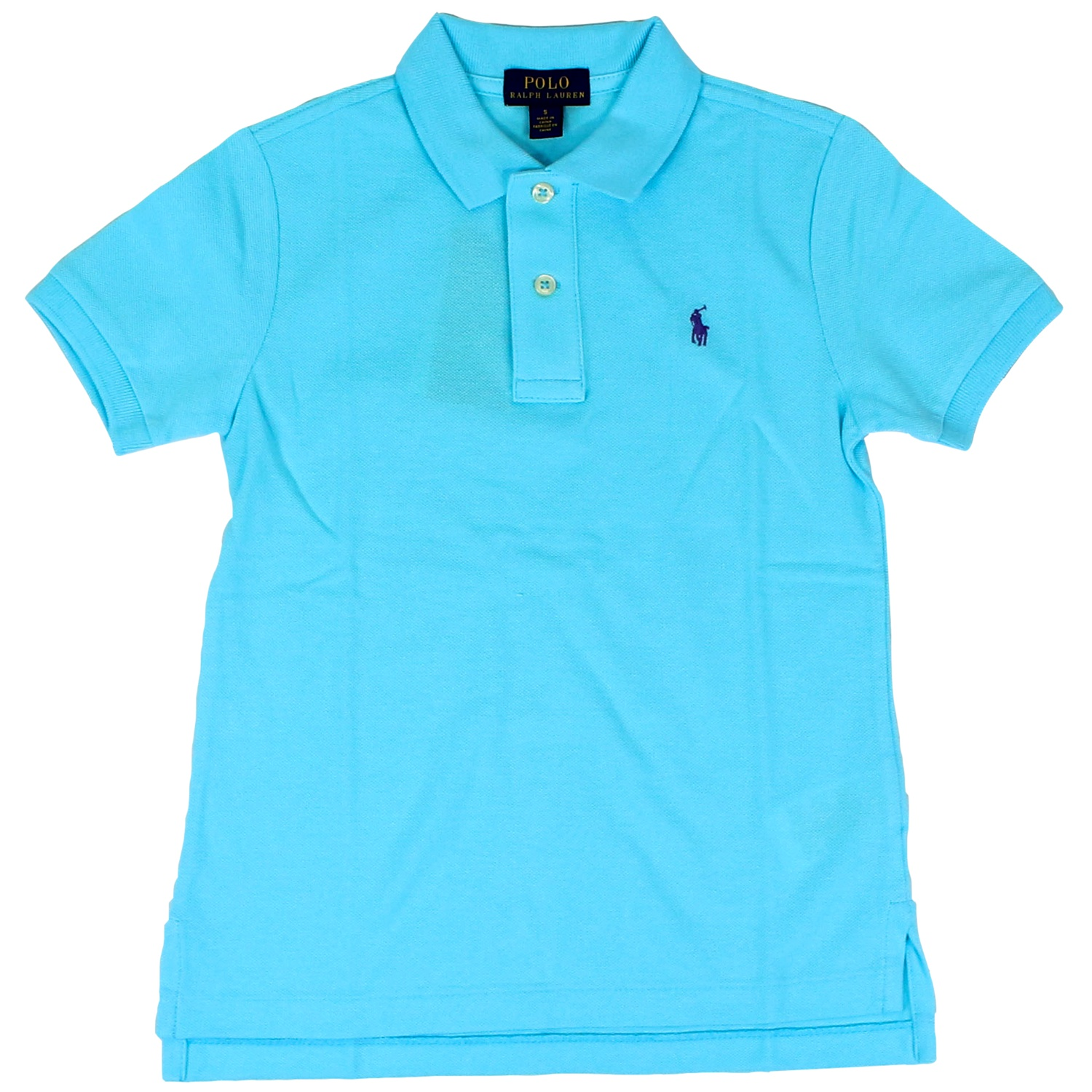 854ba909 Cotton polo shirt with short sleeves Turquoise, Polo Ralph Lauren ...