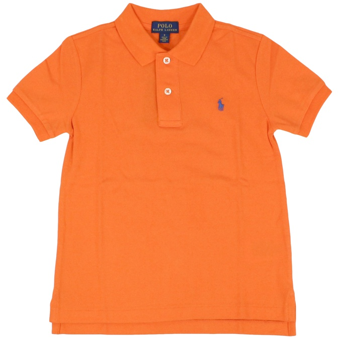 Cotton polo shirt with short sleeves Orange Polo Ralph Lauren