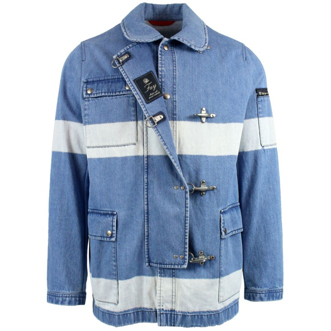 Cotton jacket with 4 hooks Light blue Fay
