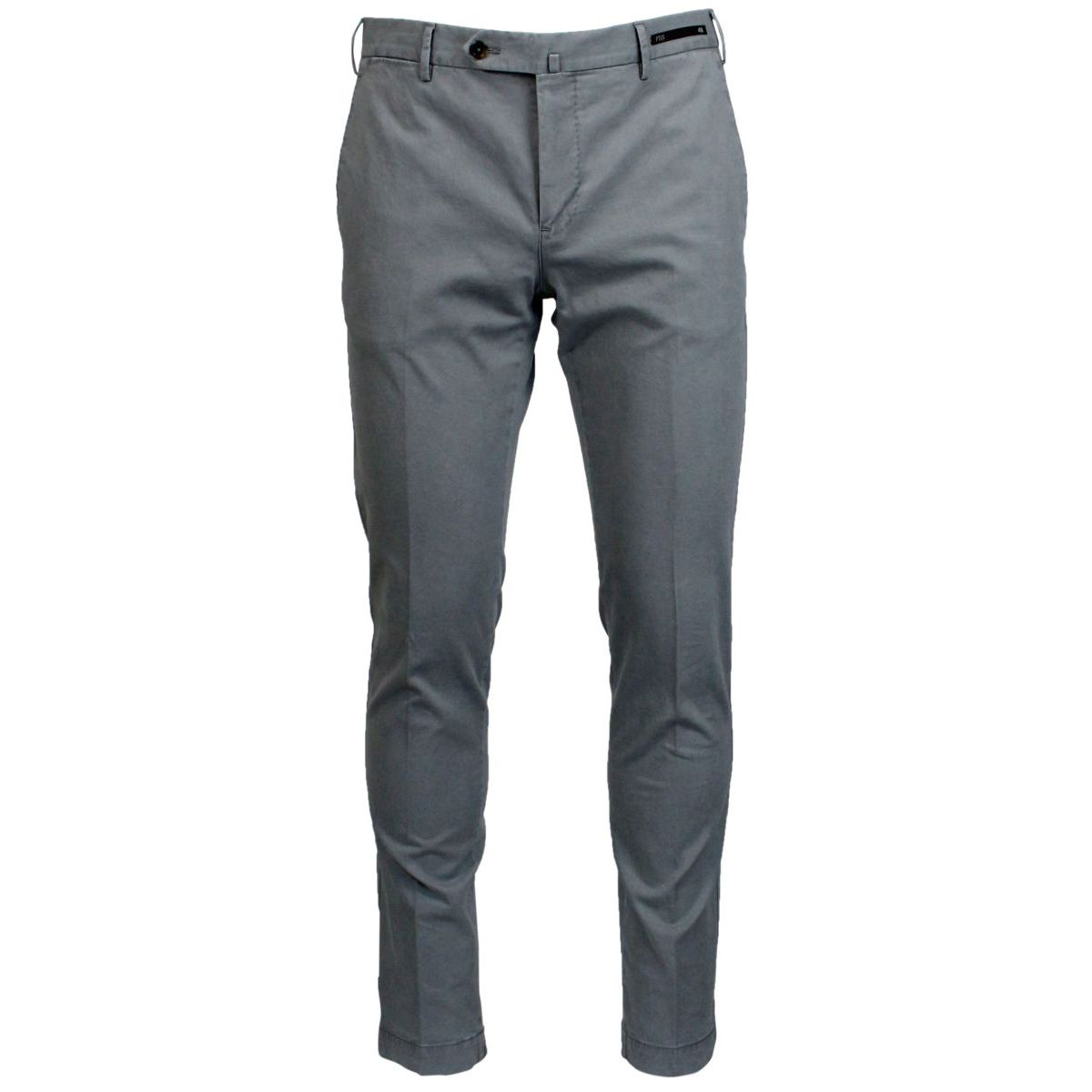 Skinny pants in stretch cotton Light grey PT