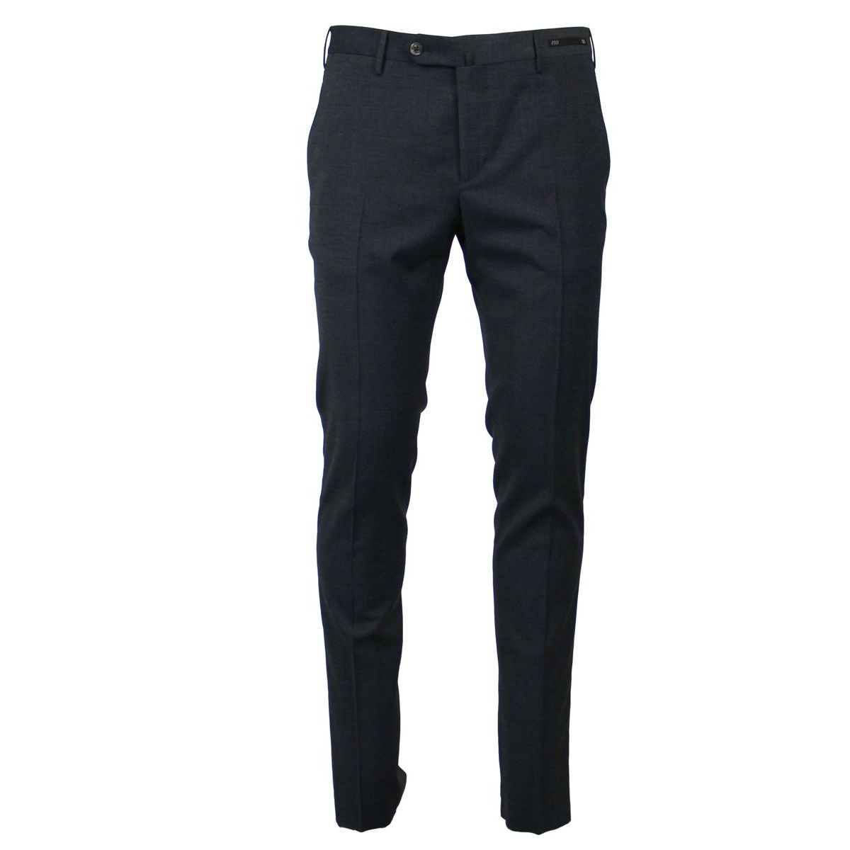 Stretch wool blend trousers with crease Medium gray PT01
