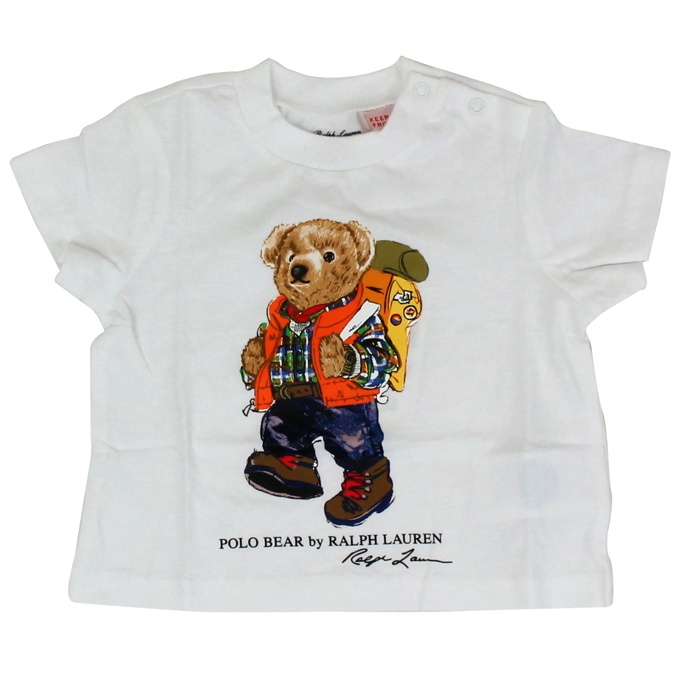 T-shirt with teddy bear logo White Polo Ralph Lauren