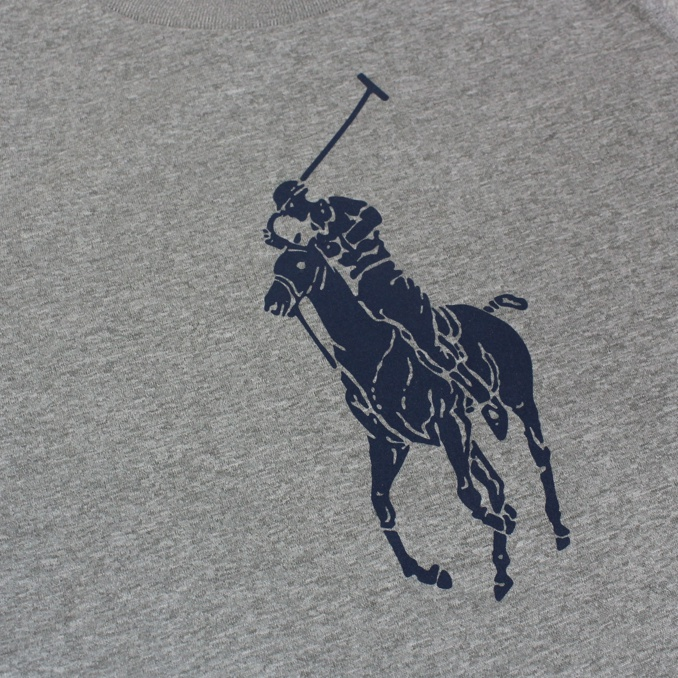 T-shirt con stampa big pony Grigio Polo Ralph Lauren
