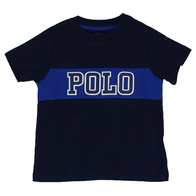 Paper sleeve t-shirt with contrast logo Blue Polo Ralph Lauren