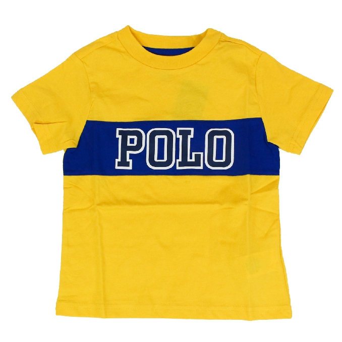 Paper sleeve t-shirt with contrast logo Yellow Polo Ralph Lauren