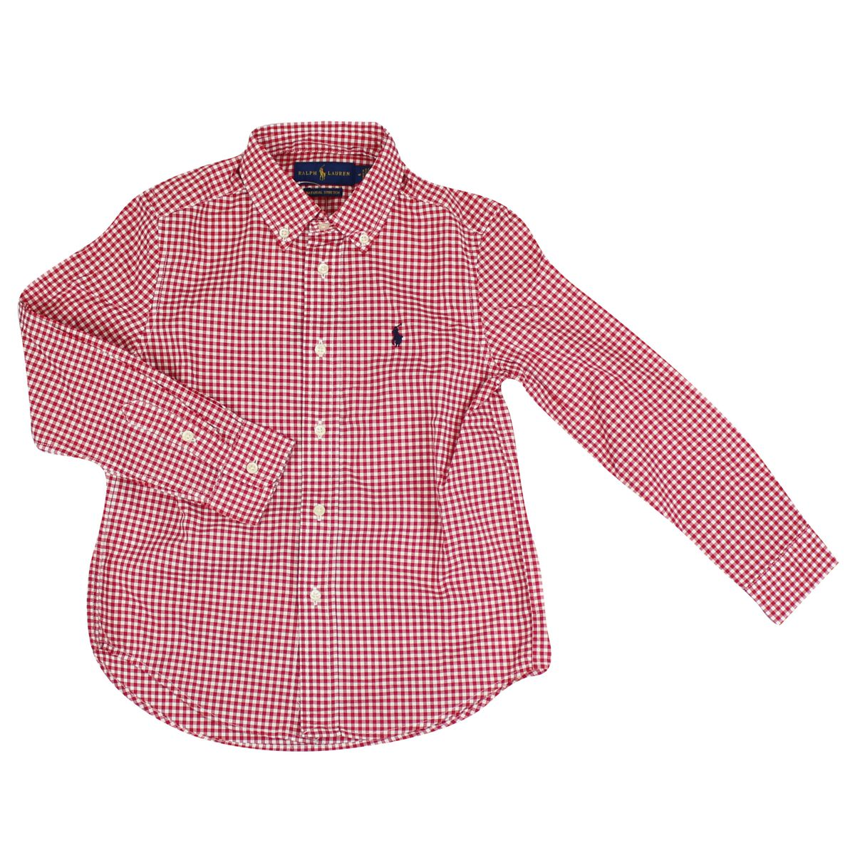 Camicia micro quardi botton down Bianco/rosso Polo Ralph Lauren