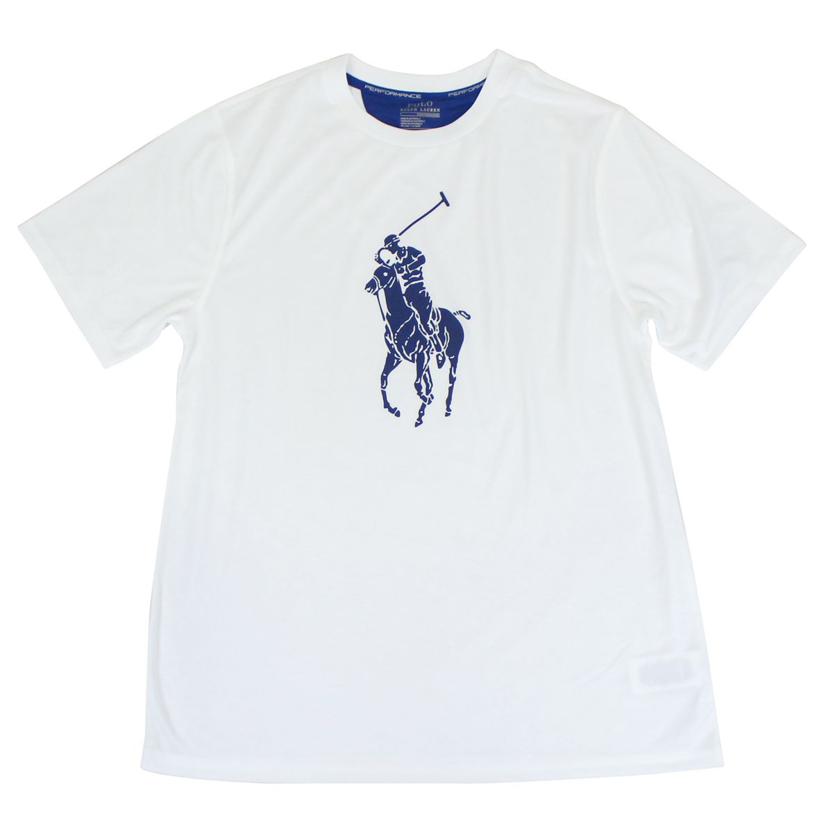T-shirt with contrasting big pony logo White Polo Ralph Lauren